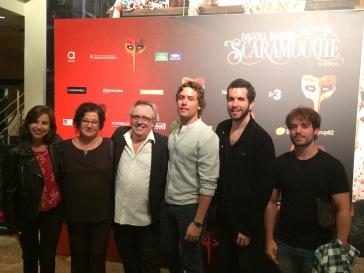 Bozzo con miembros de la última producción de Mar i Cel